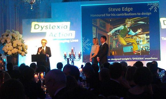 Dyslexia Action Awards Dinner - Steve Edge - News - Steve Edge Design