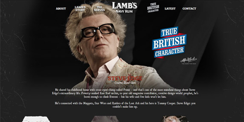 British Characters – Steve Edge – Lambs Navy Rum - Steve Edge World - Steve Edge Design